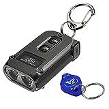 Nitecore TINI 2 Black 500 Lumen USB-C Rechargeable Keychain Flashlight with LumenTac Keychain Light