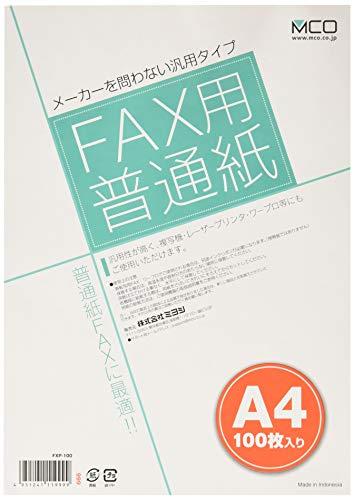 株式会社ミヨシ ミヨシ ファックス用普通紙 FXP-100 100枚入
