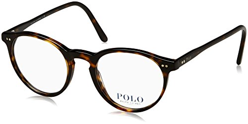 Ralph Lauren Herren 0PH2083 Brillengestell, braun (Shiny Dark Havana), 48 EU