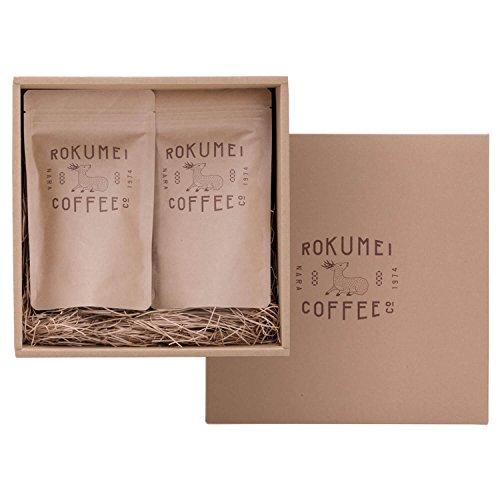 ロクメイコーヒー コーヒーギフト 日常を豊かにする4種のブレンドコーヒー 飲み比べ 100g - 中挽き - 父の日シール