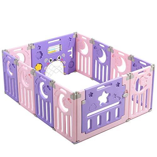 JINHUADAI Laufstall, Kinder Zaun, Innen-Kunststoff Baby Sicherheit zu Hause Krabbeln Babys und Kleinkinder Indoor-Spielplatz (Size : 12 Pieces 160 * 120cm)