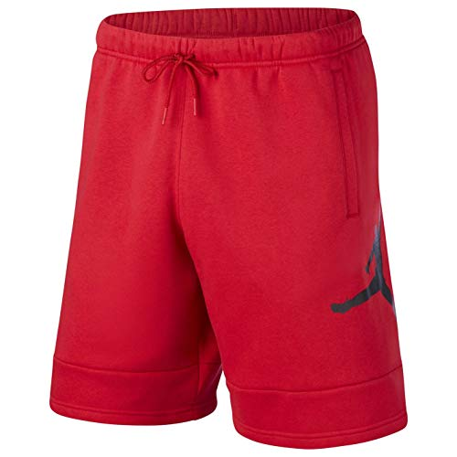 Nike M J Jumpman Air FLC Short, Pantaloncini Sportivi Uomo, Gym Red/Gym Red/Black, S