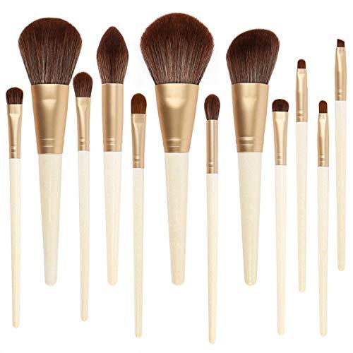 12 Ensembles De Pinceaux De Maquillage Débutant Foundation Brush Fard À Paupières Soft Brush
