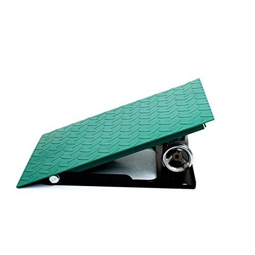 Arte Hierro Puede Levantar rampas Antideslizantes multifunción de Coches de Rampas en la Calle Garaje rampas (Color : Green, Size : 30 * 40 * 12~20CM)