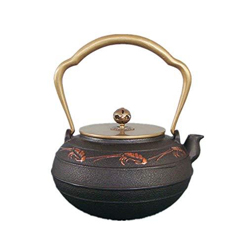 Huangwanru Tetera de Hierro Fundido Tetera Hecha a Mano del Cangrejo de río Patrón Tetera de Hierro Fundido for Uso doméstico Arte Hecho a Mano de la Tetera para té de Hojas Sueltas y bolsitas de té