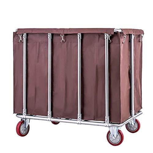 Xiao Jian- Extra Grote Waswagen, 400L Industriële Rolling Linnen Winkelwagen met 5 Cm Wielen, Hampers voor Wasserij, Ondersteuning 440 Lbs Wasmand trolley