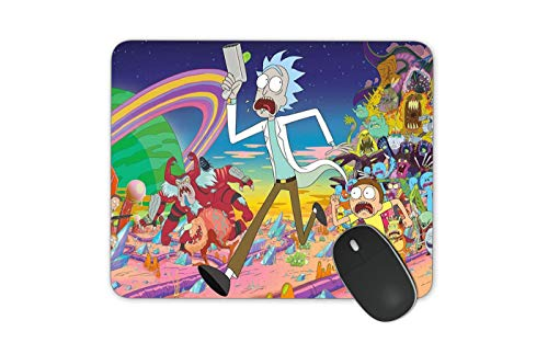 JNKPOAI Rick and Morty Series Game Mouse Pad Funny Rick and Morty Anti-Slip Mouse Pad Personalized The Officel Mouse Pad (Rick and Morty#2)