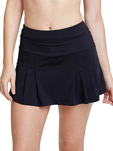 Women's Spike Athletic Mini Skort for Performance Training Tennis Golf & Running Black Tag L