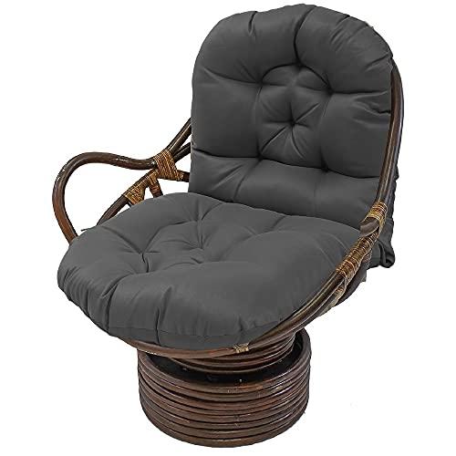 Schaukelstuhl Auflage Polster Kissen 120x60 Polster für Schaukelstuhl Schaukelstuhl Kissen Lounge Sessel Kissen für Gartenstühle Rückenkissen Polster (Grau)