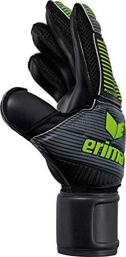 Erima SKINATOR Hardground Torwarthandschuhe, schwarz/Green Gecko, 8 - 3