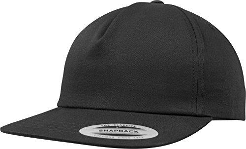 Flexfit Unstructured 5-Panel Snapback Cap, Black, one Size