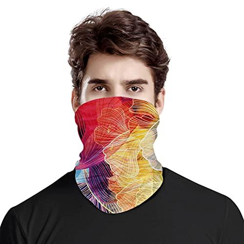 FULIYA Gran cara cubierta bufanda protección cuello, abstracta acuarela ilustraciones elementos fantásticos composición creativa ondulada natural, variedad de bufanda unisex