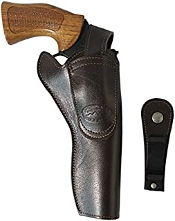 Barsony New Ambidextrous Brown Leather 360Carry 8 Option Holster for 6