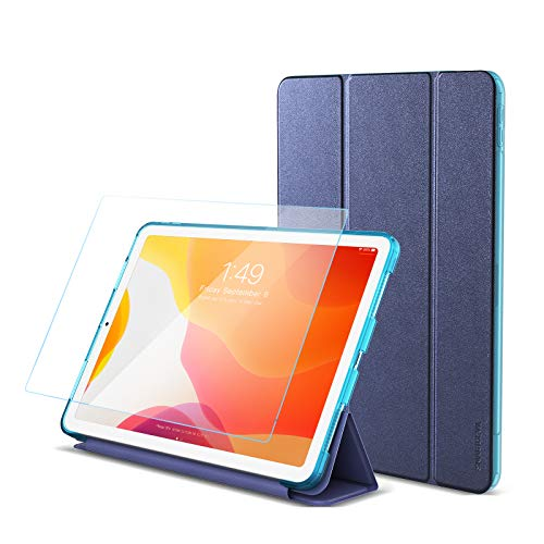 SmartDevil 10.9' Case for iPad Air 2020 with Screen Protector, Shockproof Case for iPad Air 4 with Pencil Holder, Slim Stand Case for iPad Air 4th Generation with Auto Sleep/Wake Blue