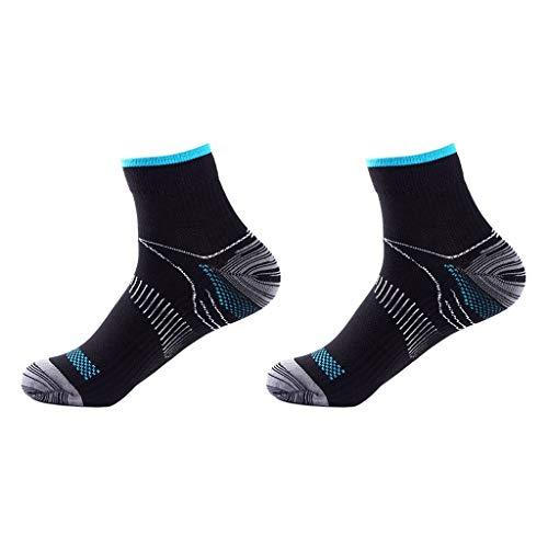 DENGHENG 1 Paar Herren-Socken für Plantarfasziitis, elastische Kompression, niedrig geschnitten, kurze Knöchelsocken, Fußgewölbeunterstützung, athletisch, Fitnessstudio, Sport, Laufen, atmungsaktiv