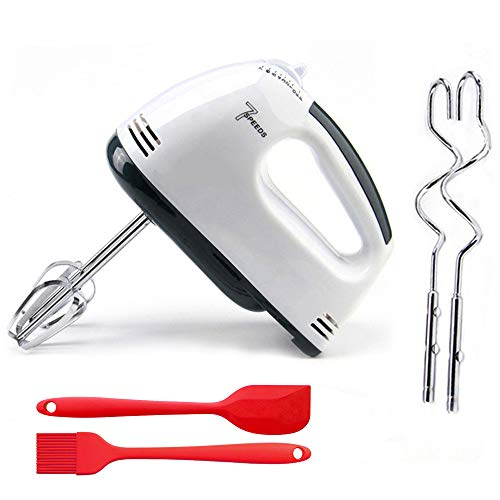 Electric Hand Mixer,Lightweight 7-Speed Hand Held Electric Whisk, Electric Hand Beater Stainless Steel Egg Whisk for Whipping Cream, Eggs,baking cake
