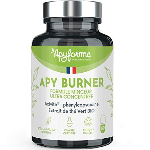 Apyforme - Apy burner - Suplemento alimenticio para adelgazar - Quemador de grasa extra fuerte - Quemador de grasa para hombres y mujeres - 7 activos adelgazantes - Garcinia cambodgia - 90 cápsulas