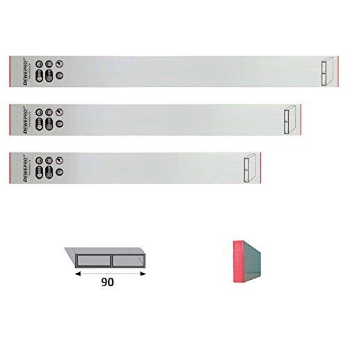 3er Set DEWEPRO® Aluminium Alu Richtlatte - Setzlatte - Abziehlatte - Putzlatte - Längen: 100cm (1,0m) + 150cm (1,5m) + 200cm (2,0m)