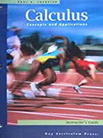Calculus Concepts and Applications: Instructor's Guide 1559536551 Book Cover