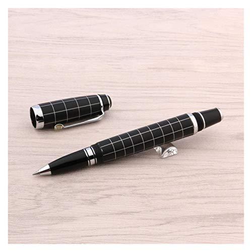 Lujo Helada Black Rollerball Pen Signature Pen Pen Spinning Ball Point Point Papelería Oficina Suministros Oficina Papermate Tinta Negra Escribir Bolígrafos Lindos