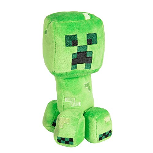 JINX Minecraft Happy Explorer Creeper Plush Stuffed Toy, Green, 7' Tall