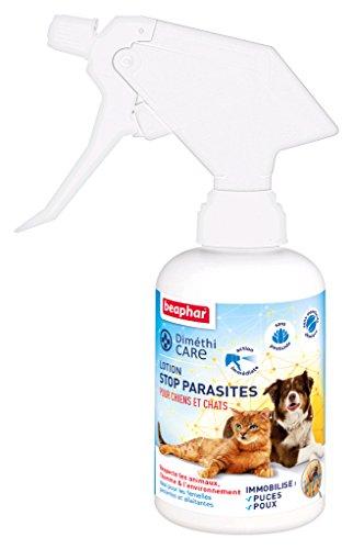 Beaphar - Loción parásitos para Perros y Gatos – contra pulgas, garrapatas y piojos – Sin pesticidas e insecticida química – Aloe Vera – Acción inmediata – sin aclarado – 250 ml