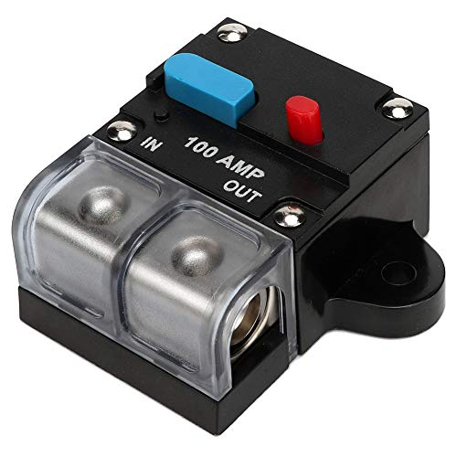Yagosodee - Disyuntor rearmable autorecuperación fusible de coche manual botón de restablecimiento (100A)
