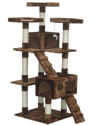 Go Pet Club F2081 72-Inch Cat Tree Condo Furniture, Brown