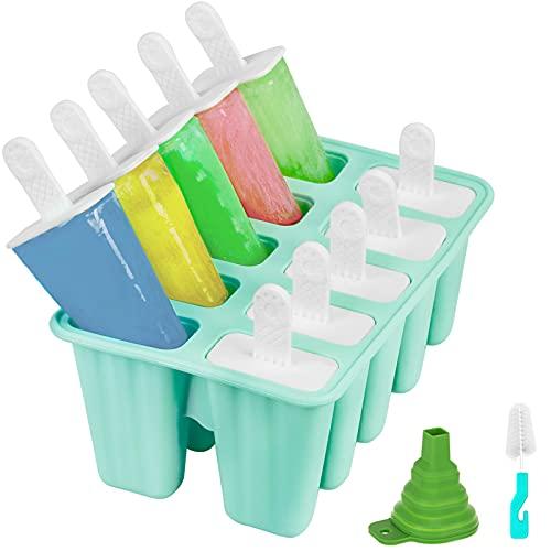 Hibery 10-Cavities Popsicle Molds, Reusable Ice...