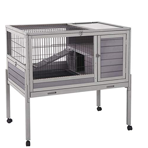 Large Rabbit Hutch on Legs