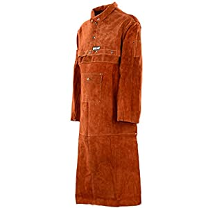 QeeLink Leather Welding Work Apron with Sleeve 19