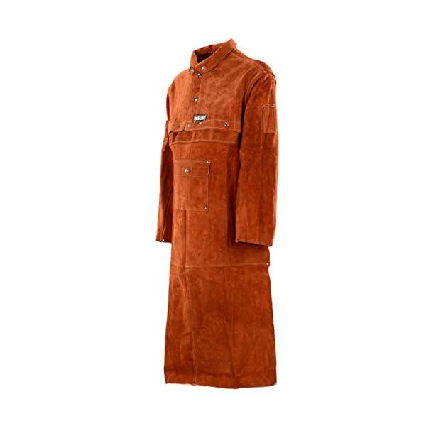 QeeLink Leather Welding Work Apron with Sleeve 1