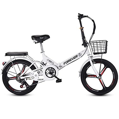 Bicicletta, Bicicletta da Pendolare Portatile da 20 Pollici, Bicicletta da Città a 7 Velocità, Telaio Pieghevole, Freni a Doppia V, per Adulti/Adolescenti/A / 150x100cm