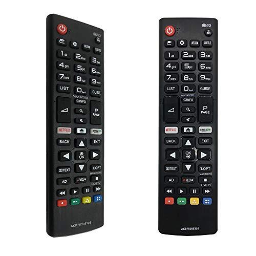 FOXRMT Ersatz Fernbedienung Universal LG AKB75095308 Für alle Fernbedienung LG Smart TVs - Keine Einrichtung erforderlich TV-LG Universal Fernbedienung