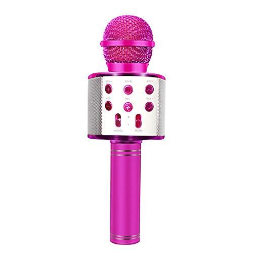 JVCAN Bluetooth draadloze microfoon, handheld karaokemicrofoon, USB Mini Home KTV voor muziek spelende zangspeaker