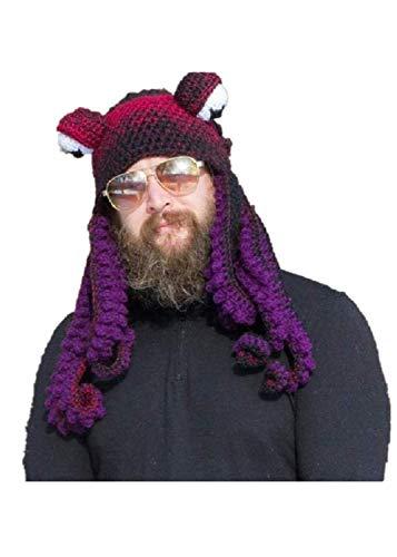 Gorro de pulpo, sombreros divertidos, para hombre, clido, nico, suave y clido, disfraz de fiesta para cosplay, tentculo pulpo cthulhu punto gorro