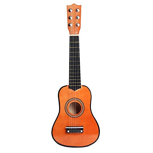Guitarra acústica Pequeño Tamaño 21 pulgadas de 6 cuerdas de la guitarra acústica de tilo clásico for los niños regalo de los niños Mini instrumentos musicales portátiles ligeros para adultos de los n