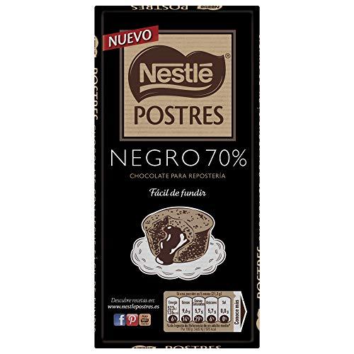 Nestlé. Chocolate para postres negro 70%. 170 gr.