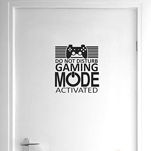 WK JiaoYu Wall Stickers Game DO Not Disturb Gaming Mode Activated Wall Sticker Home Door Decor Decoration Stickers Living Room Wall Stickers Toilet Stickers