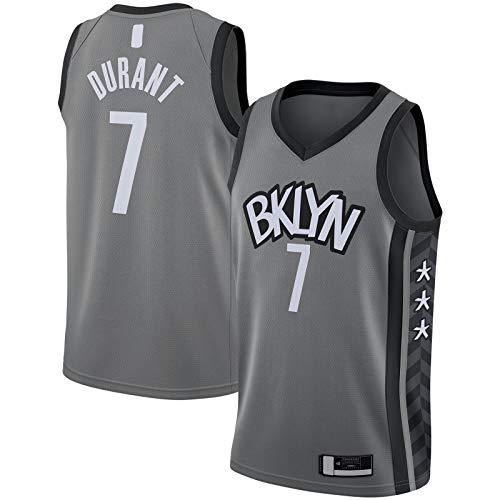 ZHINV Kevin Durant - Camiseta de manga corta para hombre de Brooklyn de baloncesto para exteriores #7 2019/2020, color gris, gris, XL