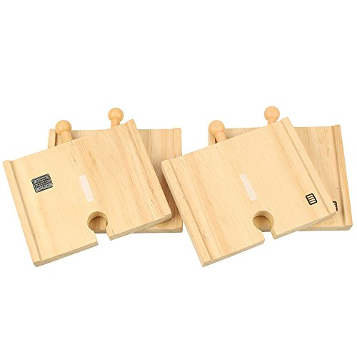 Bigjigs Rail Tronçon de Route Court (Lot de 4)