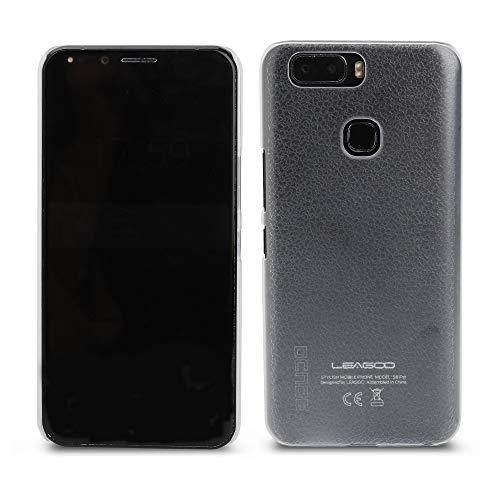 Ycloud Tasche für Leagoo S8 Pro Hülle, Gute Qualität Strukturierter Handykasten Hartschalen-Rückabdeckung Handy case Backcover Kunststoff-Hard Shell Handyhülle Hülle - Transparentes weiß