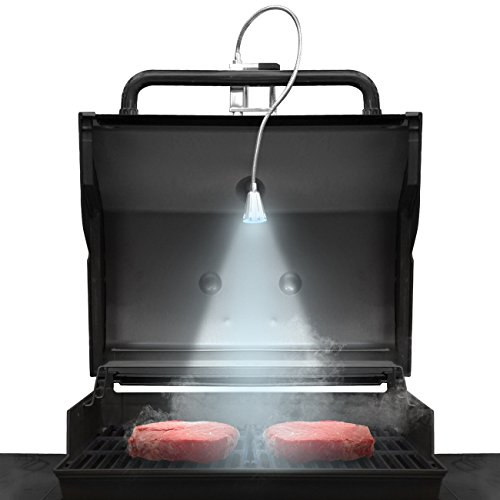 LED Concepts BBQ Grill Lights Magnetic Base Super-Bright LED Lights-360 Degree Flexible Gooseneck, Weather Resistant, Task Lighting Barbecue Grilling, Works (1 Pack)