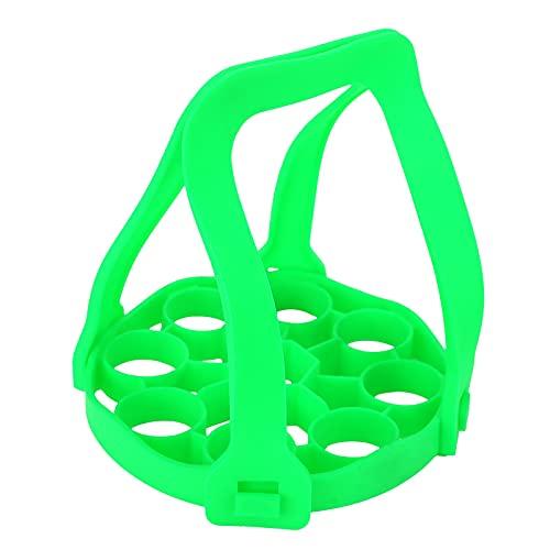 WMKD Egg Steamer Rack - Olla a presión con aislamiento térmico, 9 agujeros, para cocina o restaurante (verde)