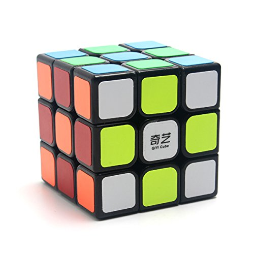 EasyGame-Qiyi Warrior W 3x3 Speed Cube Stickerless Magic Cube Rompecabezas (Negro)