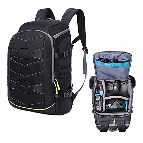 FPV Drone Backpack Drone Bag Double Shoulder Packet Large Capacity Designed for DJI FPV Drone Goggles Transmitter Remote Control