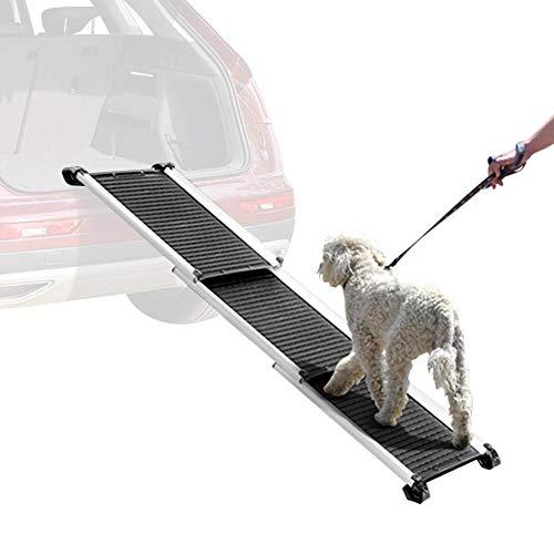 Yaheetech Hunderampe Autorampe Alu Rampe Hundetreppe Haustier PKW Einstiegshilfe klappbar