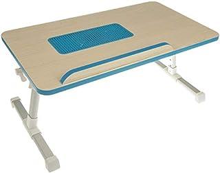 E-table A8-C Foldable Laptop Desk with Laptop Cooling Fan Blue
