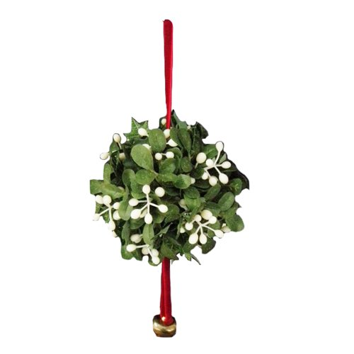 Kurt Adler Mistletoe Ball Christmas Tree Ornament J9846