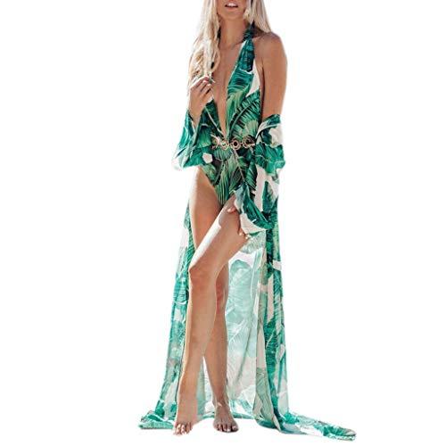 Copricostume Donna Mare Lungo,Copricostumi E Parei Donna Estate Cardigan Trasparente A Fiori Stampa Sciolto Bikini Cover Up Spiaggia Costume da Bagno Tunica Camicetta Camicia Abito Kimono